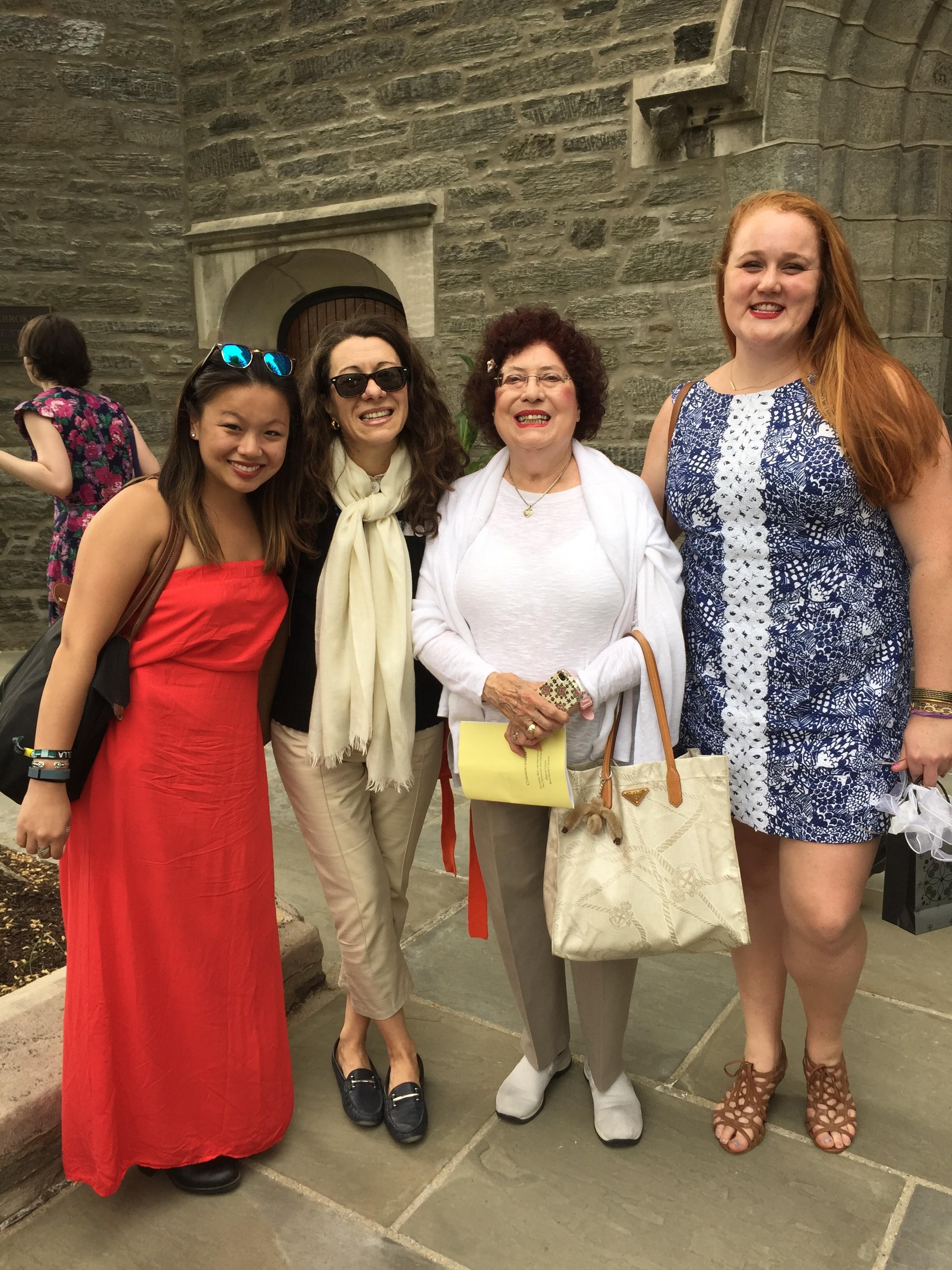Roberta Ricci and Gabriella Troncelliti with alumnae Zoe Guastella e Mairin O'Connor.