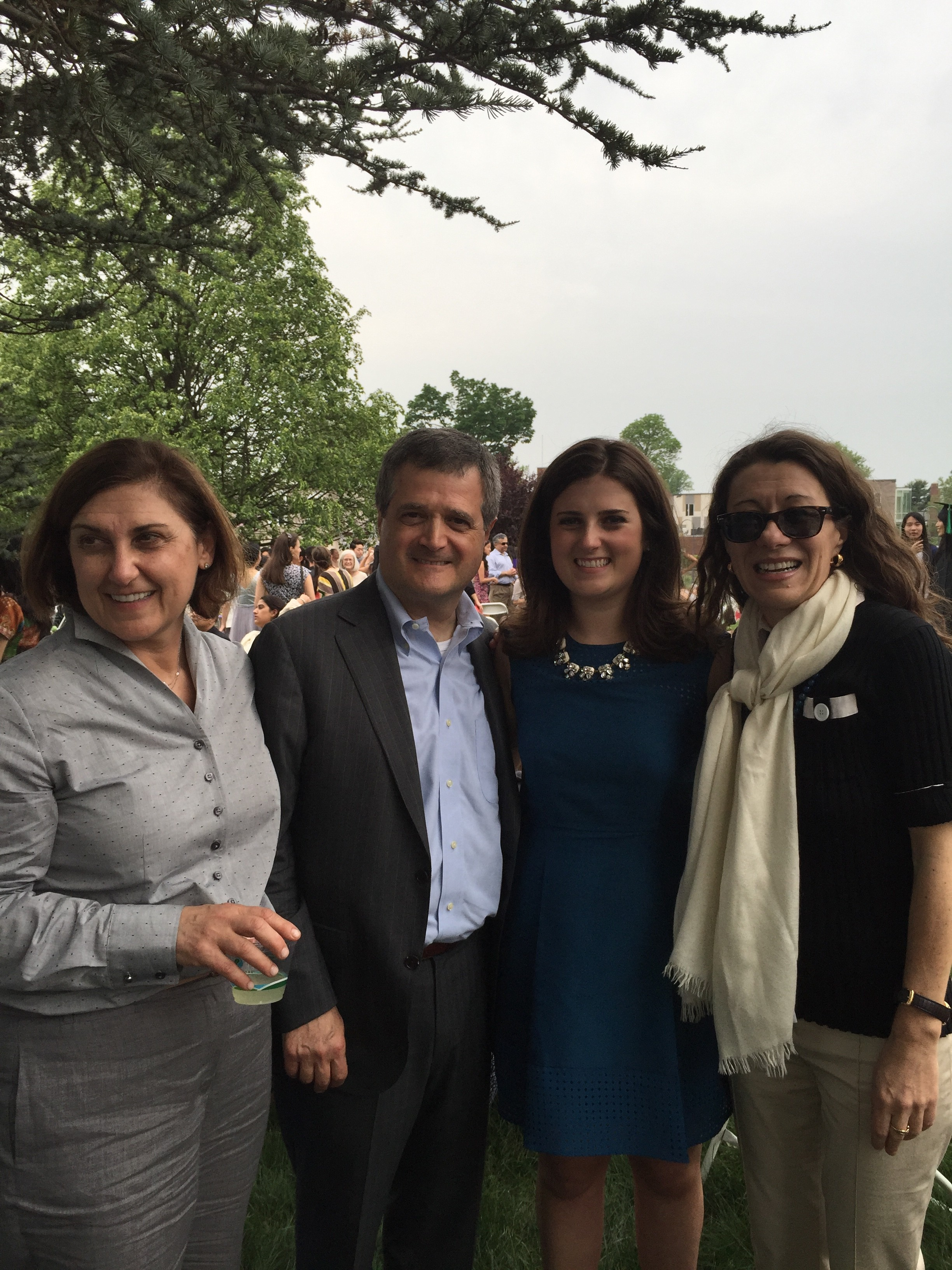 Adriana Volterra with her parents and Roberta Ricci.